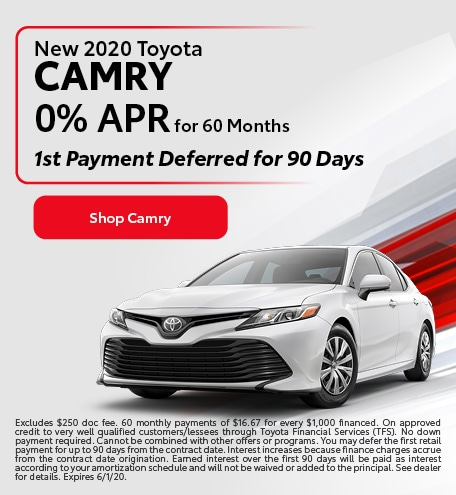 New 2020 Toyota Camry | 0% APR