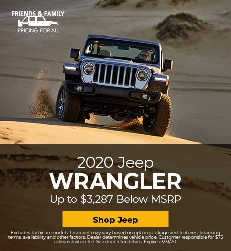 New 2020 Jeep Wrangler | Friends and Family Pricing