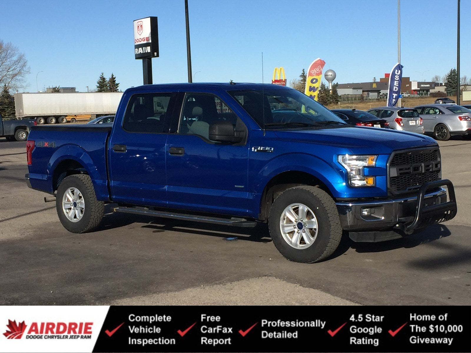 2015 Ford F-150 XLT Crew 4x4 - Low KMs! New Tires! 4WD SuperCrew 145 XLT