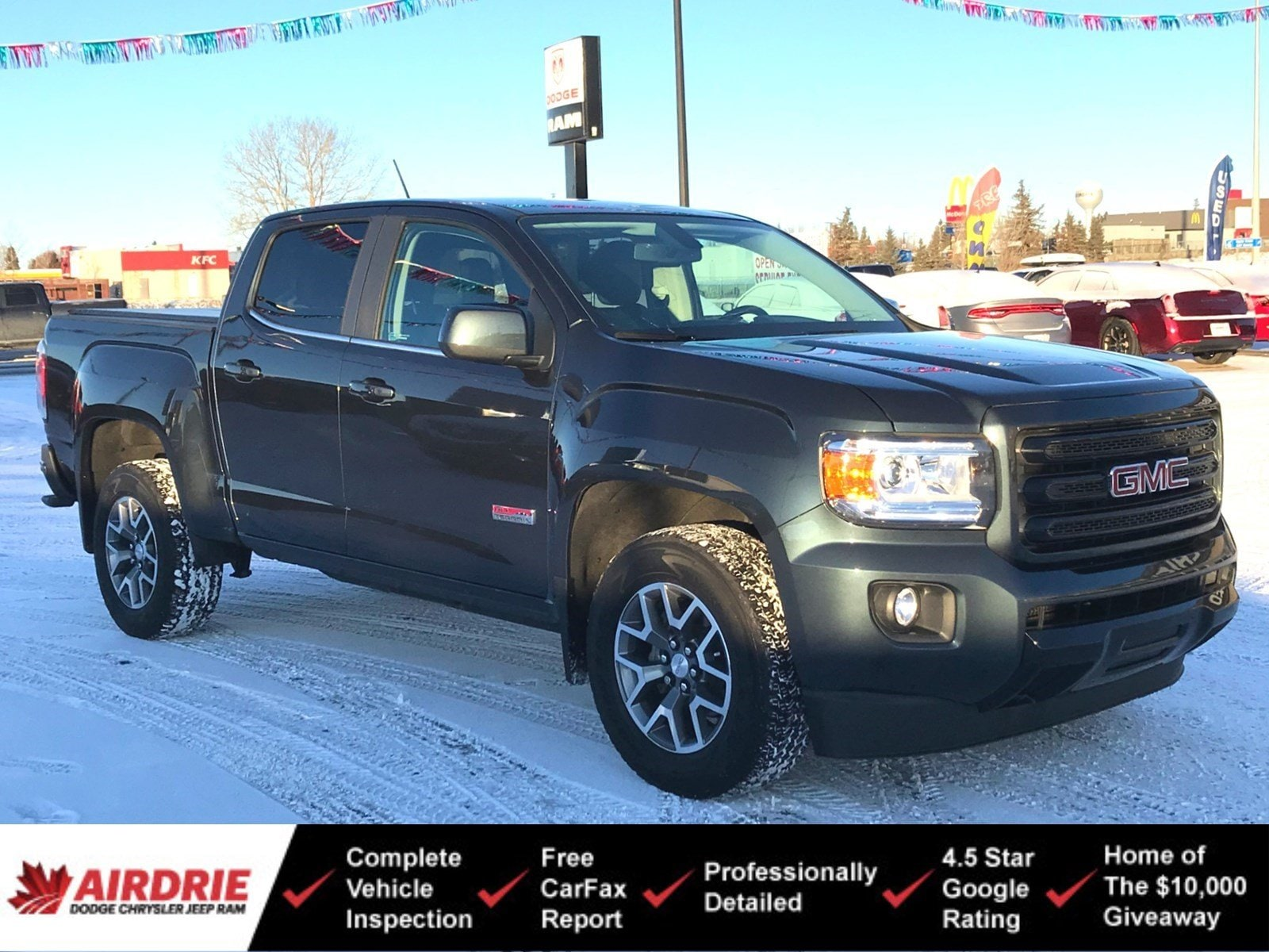 2018 GMC Canyon All-Terrain 4x4 - Leather! New Tires! 4WD Crew Cab 140.5 All Terrain w/Leather