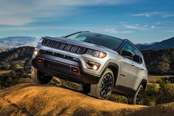 2020 Jeep Compass Parked On A Hill