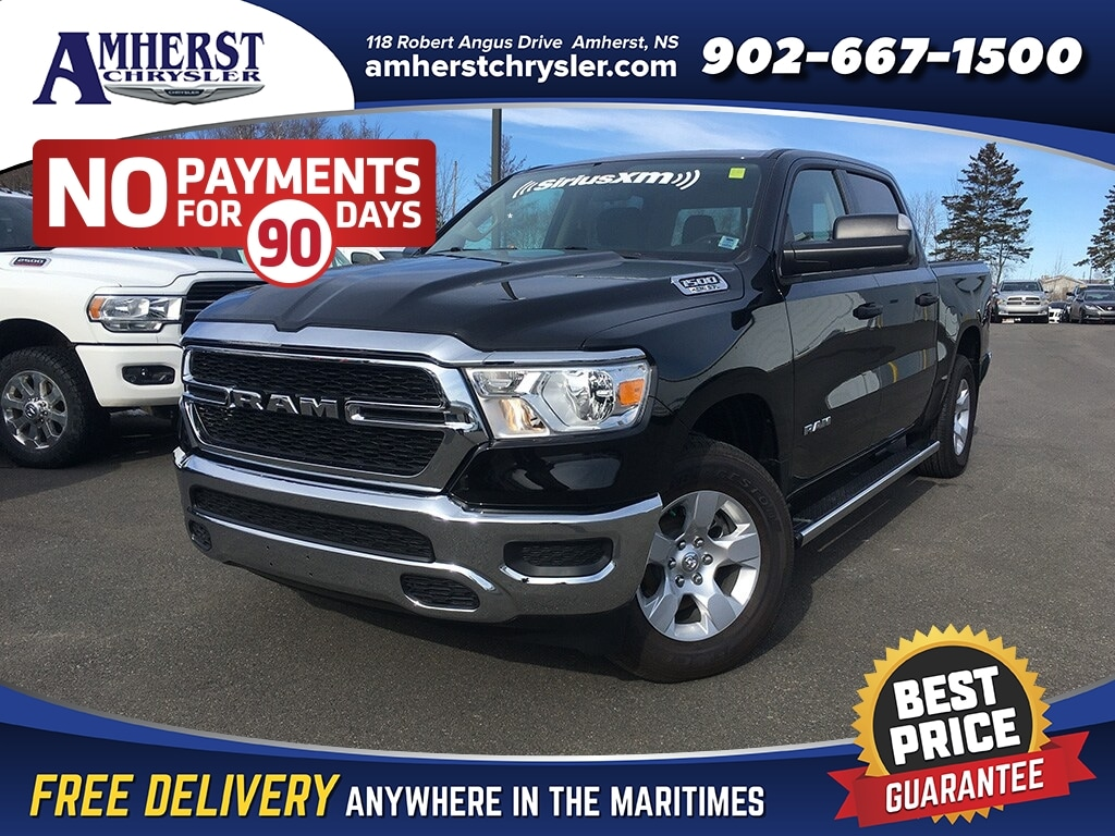 2019 Ram All-New 1500 SXT,Trailer Mirrors/Hitch/Brake Control with 3.92 Rear End Truck Crew Cab
