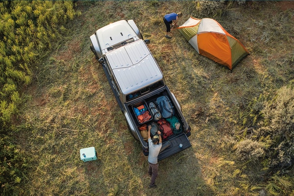 2020 Jeep Gladiator At Camp Site With Luggage