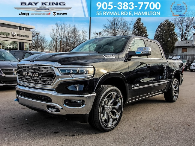 2019 Ram All-New 1500 4X4, Side Steps, V8, 12 Touchscreen, Leather Truck Crew Cab