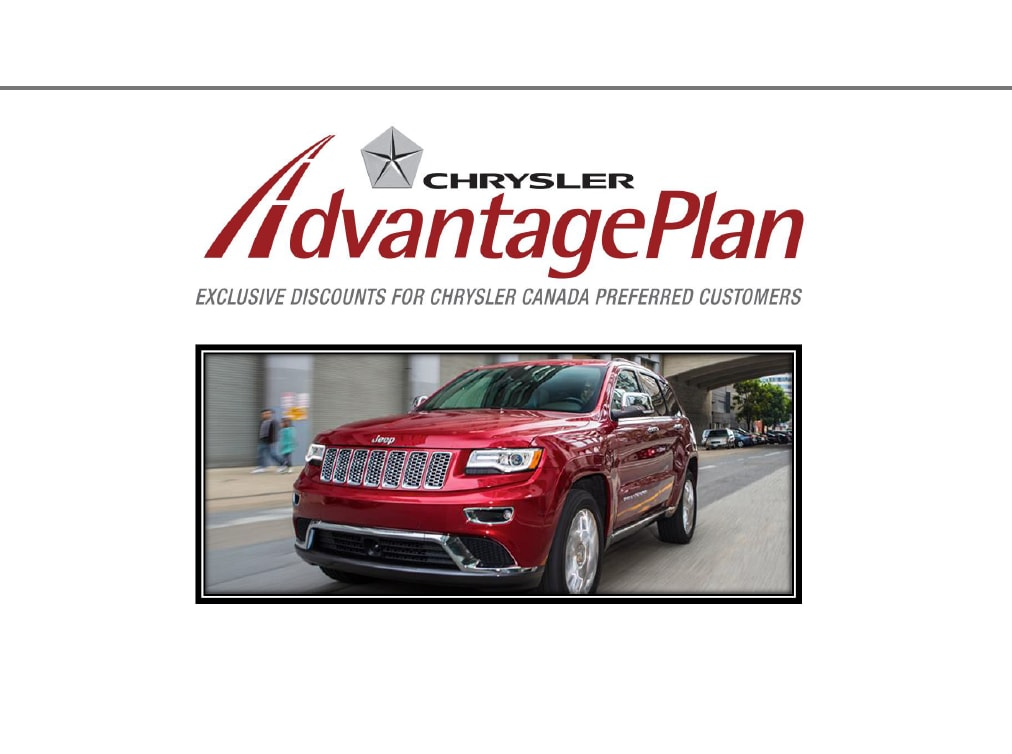 Chrysler advantage program canada #3