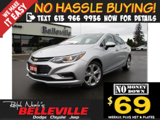 2018 Chevrolet Cruze Premier Auto-Chrome Accents-7 Touchscreen Sedan