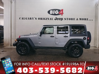 Used 2017 Jeep Wrangler Unlimited Willys Wheeler | 6-speed | Hard top SUV 1C4BJWDGXHL626679 Calgary, AB