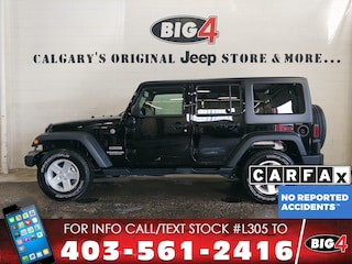 Used 2017 Jeep Wrangler Unlimited Sport SUV 1C4BJWDG5HL709128 Calgary, AB