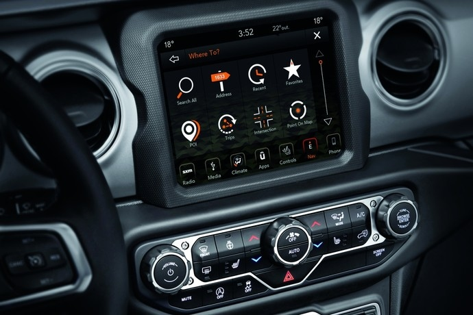 2020 Jeep Wrangler Infotainment System With UConnect