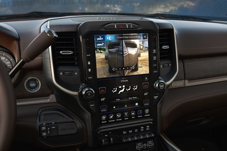 2020 Ram 2500 Interior Media Screen With Rear Camera
