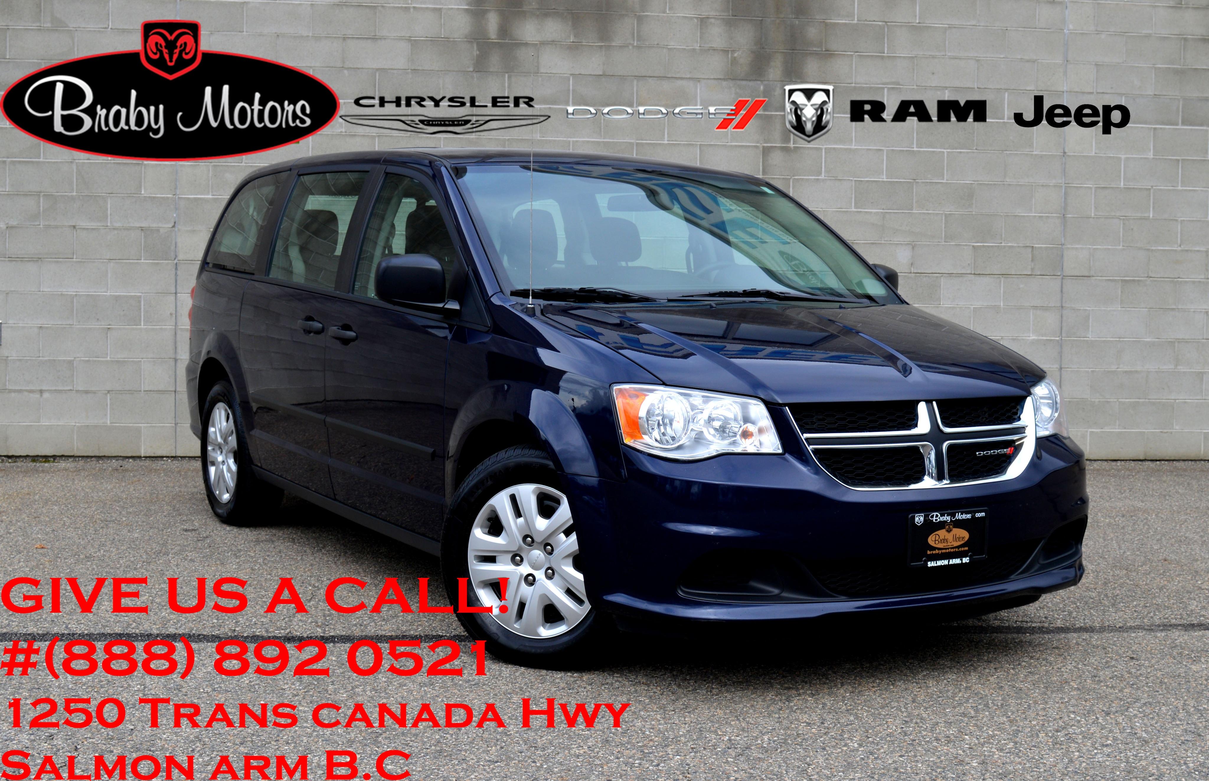 2016 Dodge Grand Caravan SE Canada Value Package 7 Passenger Van Passenger Van