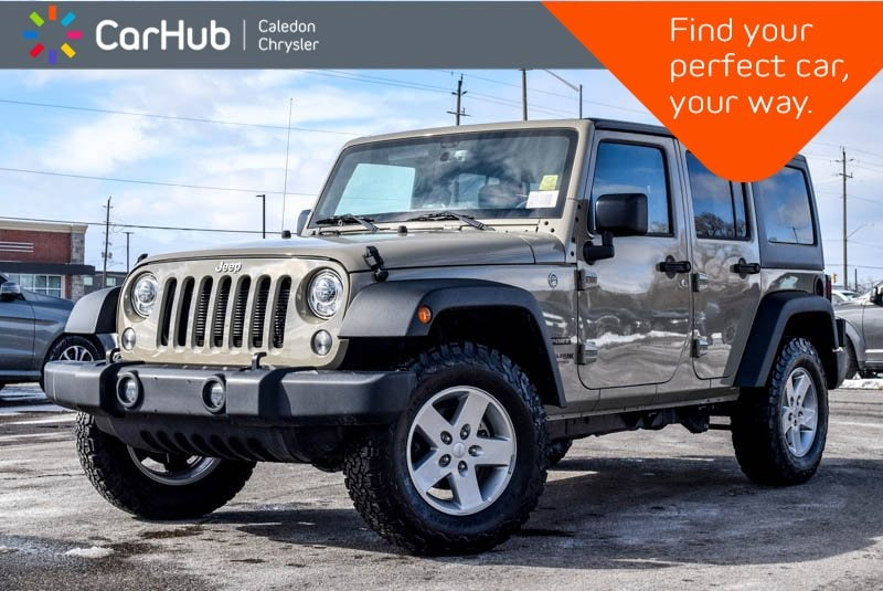 New 2018 Jeep Wrangler JK Unlimited Sport|Hard Top|Bluetooth|Heated Front Seats|R-Star SUV in Bolton, ON