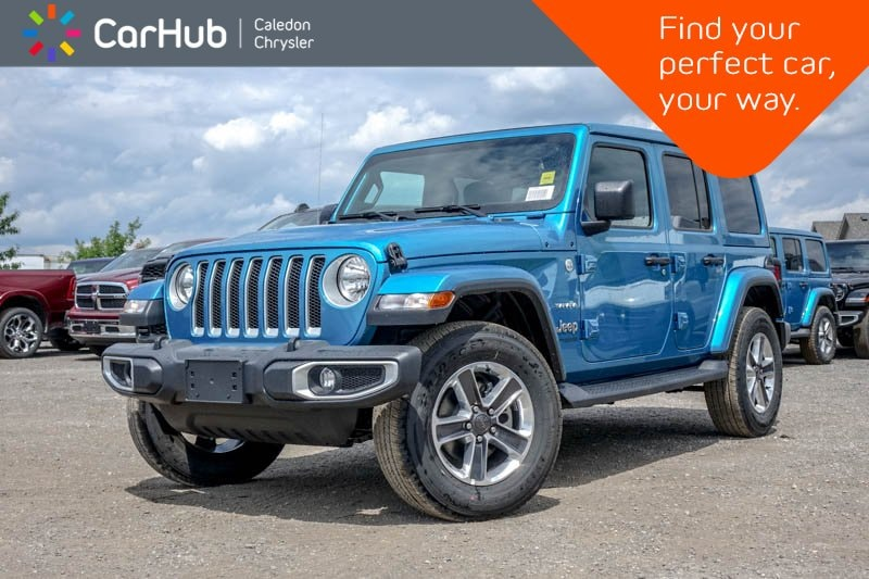 New 2019 Jeep Wrangler Unlimited New Car Sahara|4x4|Sky Pwr Soft Top|Backup Cam|Blu SUV in Bolton, ON