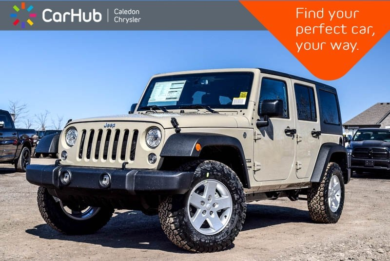 New 2018 Jeep Wrangler JK Unlimited New Car Sport S|4x4|Hard Top|Bluetooth|R-Start|Pwr SUV in Bolton, ON