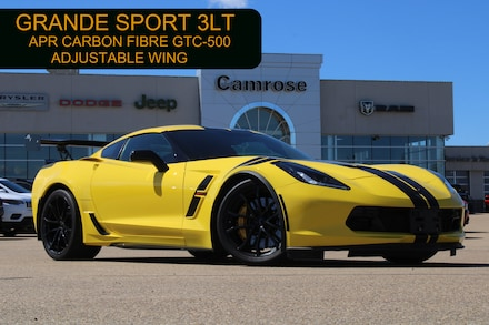 Featured Used 2019 Chevrolet Corvette 3LT GRAND SPORT WITH TARGA TOP Coupe for sale in Camrose, AB.