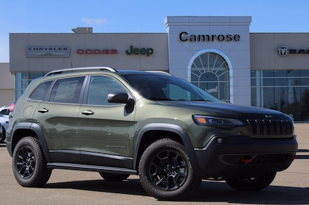 Featured new 2020 Jeep Cherokee Trailhawk 4x4 for sale in Camrose, AB