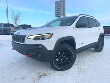 Featured Used 2020 Jeep Cherokee Trailhawk SUV for sale in Camrose, AB.