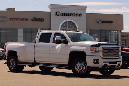 Featured Used 2016 GMC Sierra 3500HD Denali Crew Cab 4x4 Truck for sale in Camrose, AB.
