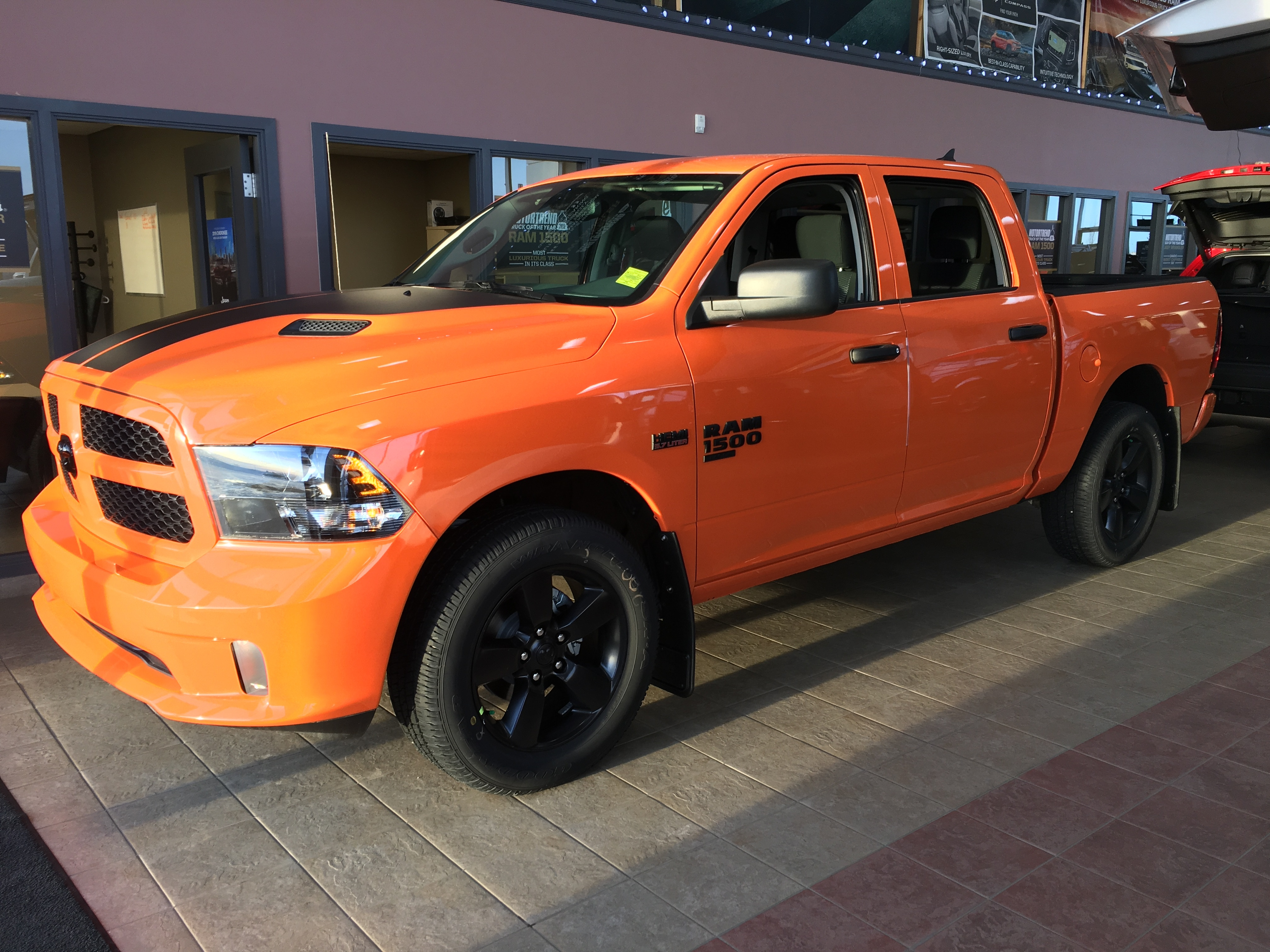 Featured new 2019 Ram 1500 Classic Express Ignition Orange Truck Crew Cab for sale in Camrose, AB