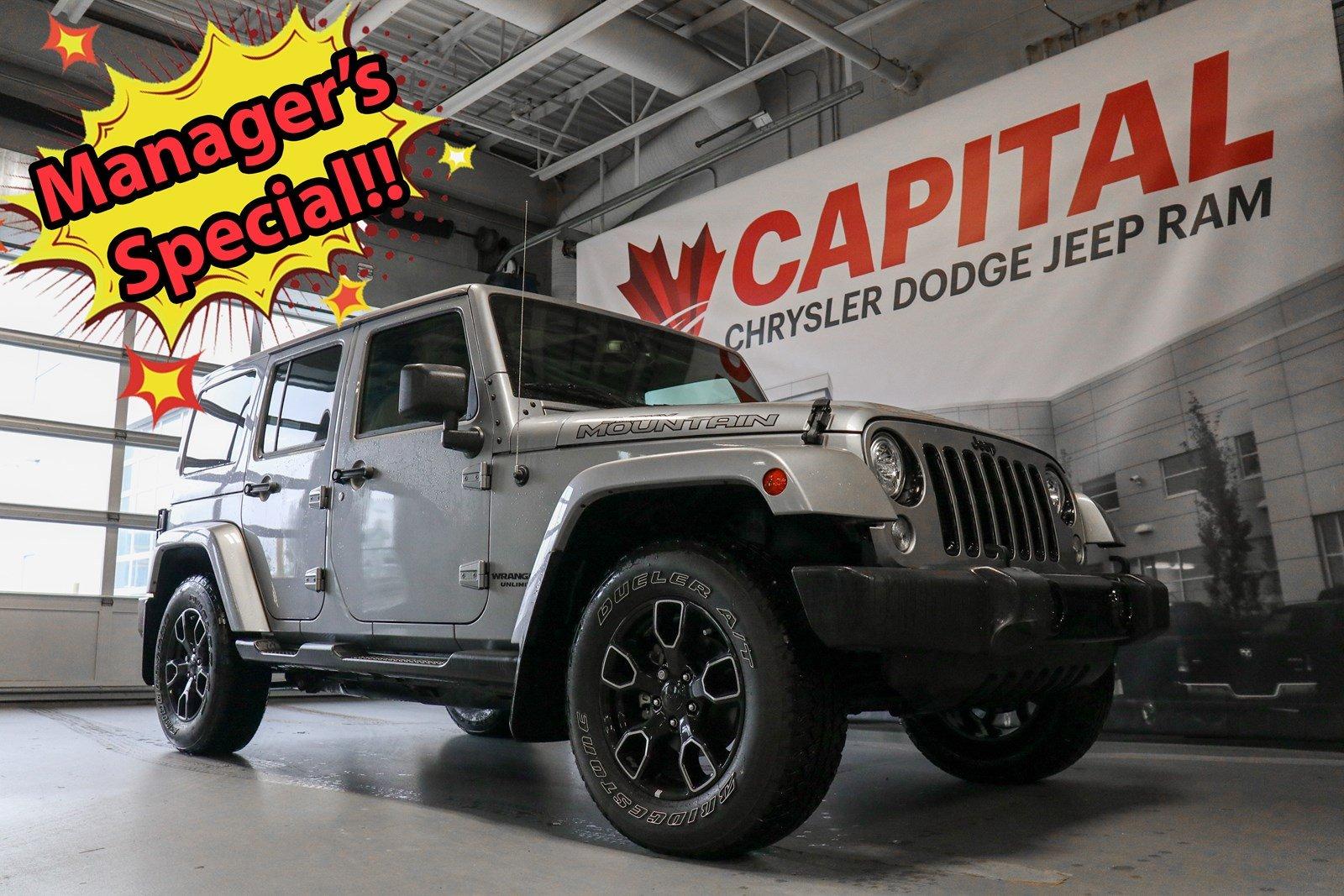 2017 Jeep Wrangler Unlimited Smoky Mountain | GPS Navigation | Hood Decals | SUV