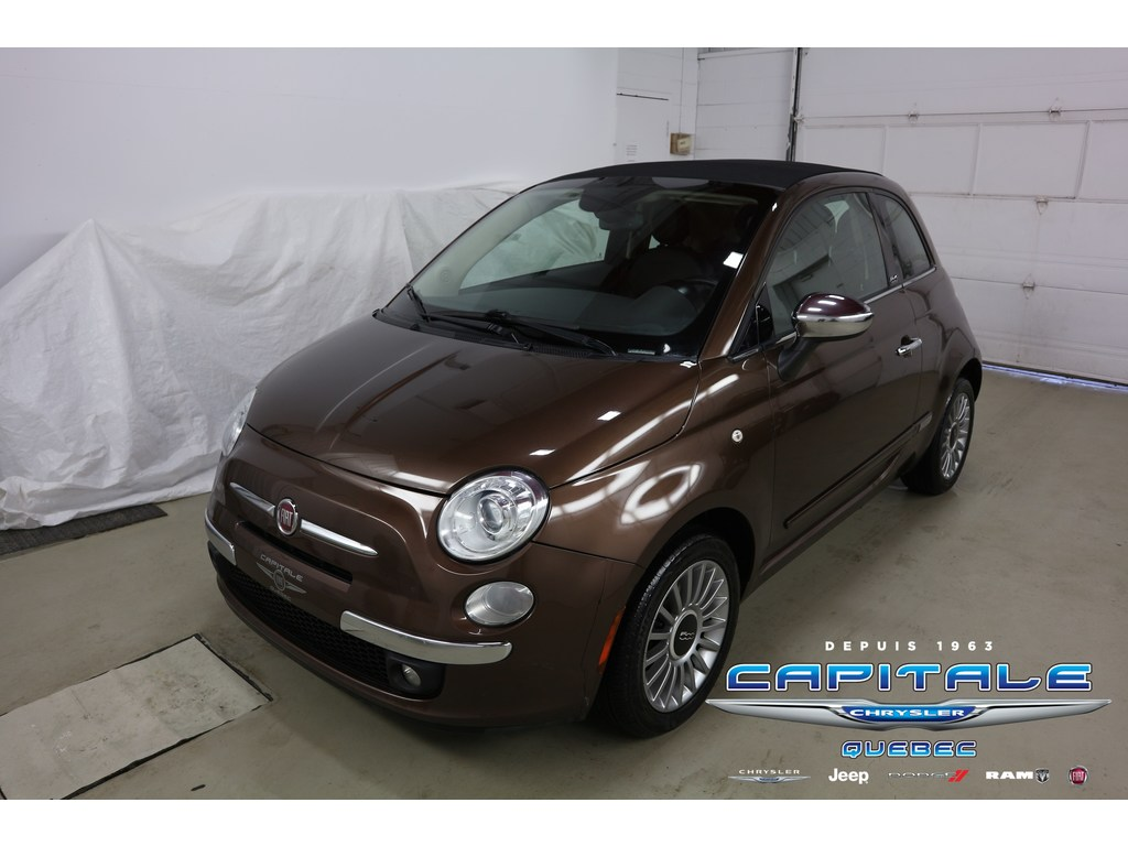 2013 FIAT 500 Lounge *Plan OR 5ans/100 Décapotable ou cabriolet