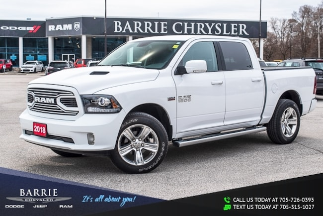 2018 Ram Ram 1500 SPORT PACKAGE | CREW CAB | BACK-UP CAMERA | APPLE  Crew Cab Pickup