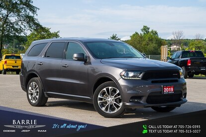 Used Tires Barrie >> Used 2019 Dodge Durango Gt For Sale At Barrie Chrysler