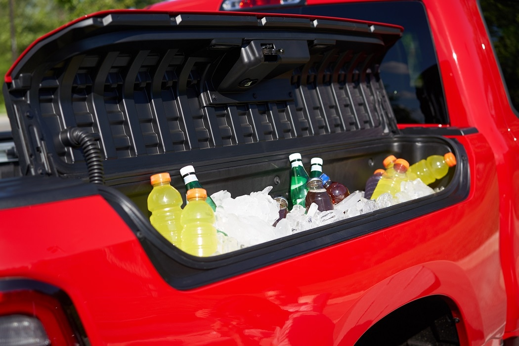 Ram Sport 1500 Drink and Cooler Compartment