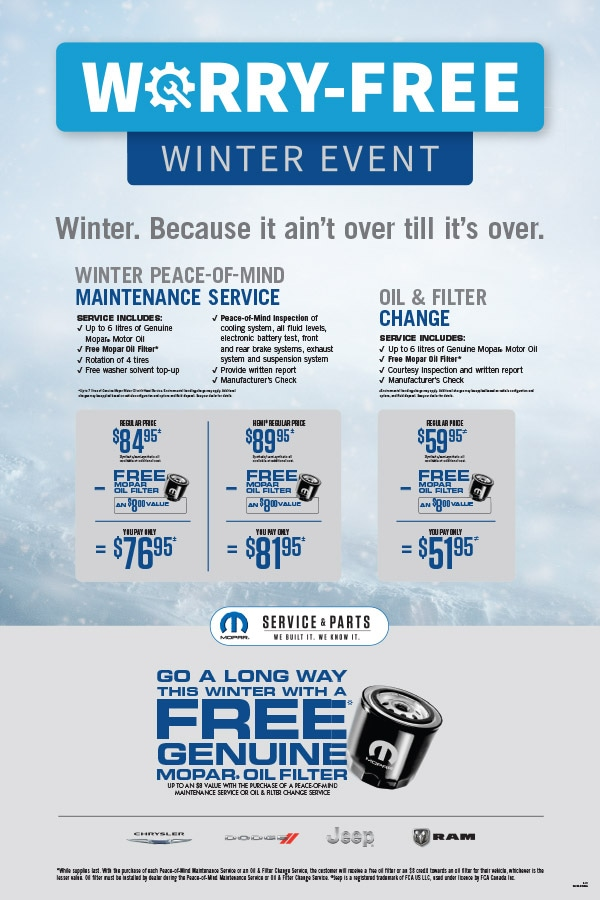 Worry Free Winter Event Service Special
