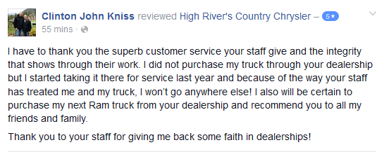 Country Chrysler Customer Testimonial
