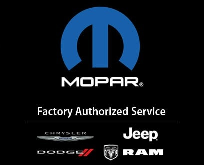 Country Chrysler is factory authorized to perform Mopar service on Chrysler Dodge Ram and Jeep vehicles
