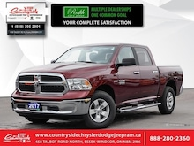 2017 Ram 1500 SLT - Bluetooth -  Siriusxm - Low Mileage Crew Cab