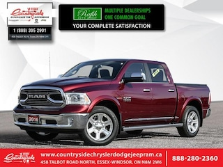 2016 Ram 1500 Longhorn - Leather Seats -  Cooled Seats Crew Cab
