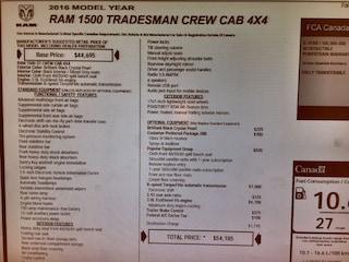 2016 Ram 1500 Custom Tradesman 6