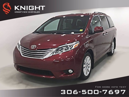 2015 Toyota Sienna XLE   Leather   Sunroof   Navigation XLE 7-Pass AWD