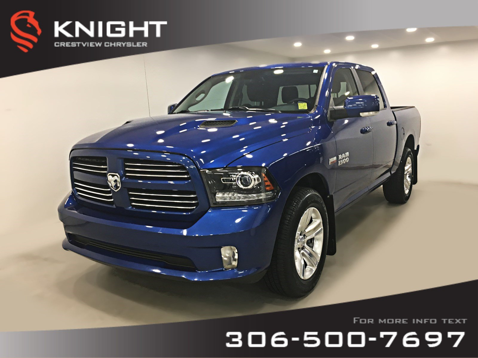 2017 Ram 1500 Sport Crew Cab | Heated Seats and Steering Wheel | Sport 4x4 Crew Cab 57 Box