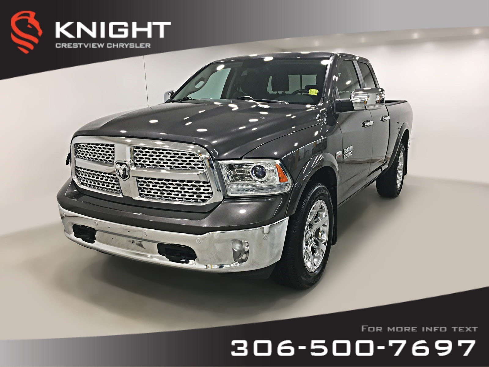 2016 Ram 1500 Laramie Quad Cab | Ventilated Seats | Navigation | 4WD Quad Cab 140.5 Laramie