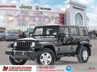New 2018 Jeep Wrangler JK Unlimited Sport S SUV 1C4BJWDG5JL864929 for sale near you in Edmonton, AB
