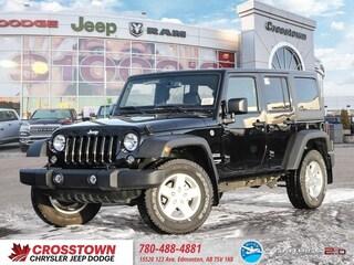 New 2018 Jeep Wrangler JK Unlimited Sport S SUV 1C4BJWDG0JL864921 for sale near you in Edmonton, AB