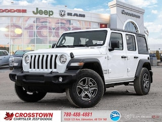 New 2019 Jeep Wrangler Unlimited Sport S SUV 1C4HJXDN3KW602762 for sale near you in Edmonton, AB