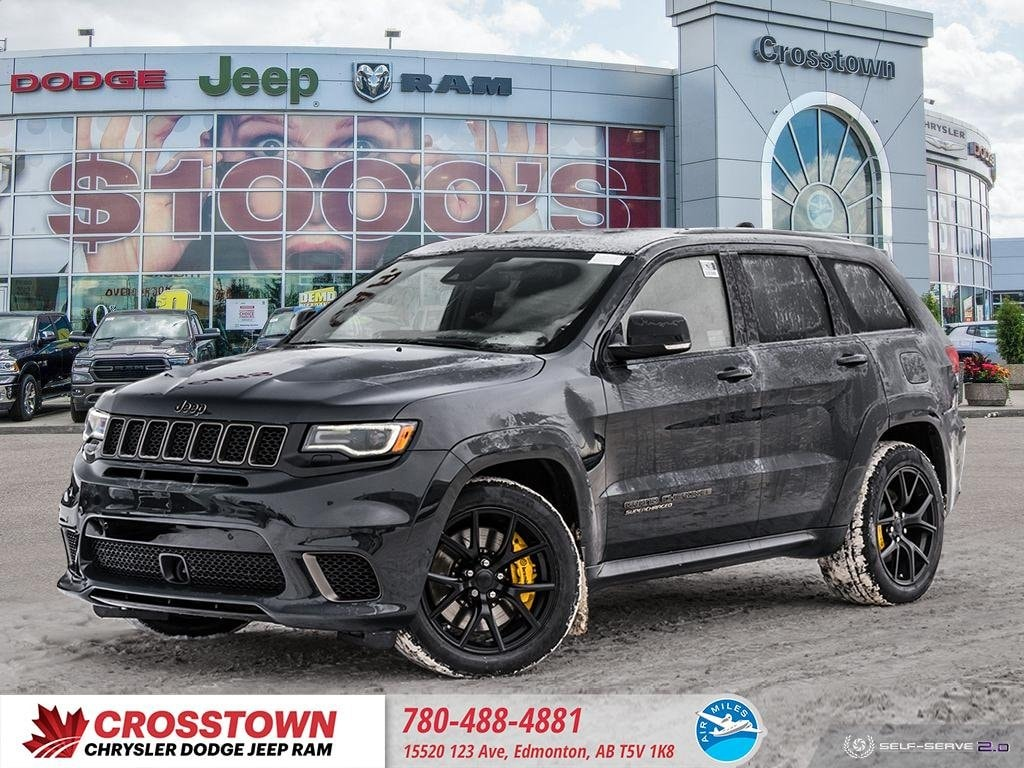 Featured Used 2018 Jeep Grand Cherokee Trackhawk Trackhawk 4x4 for sale near you in Edmonton, AB