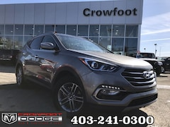 Used 2018 Hyundai Santa Fe Sport LUXURY PACKAGE WITH LEATHER & SUNROOF AWD SUV 5NMZUDLB0JH068557 for sale in Calgary, Alberta