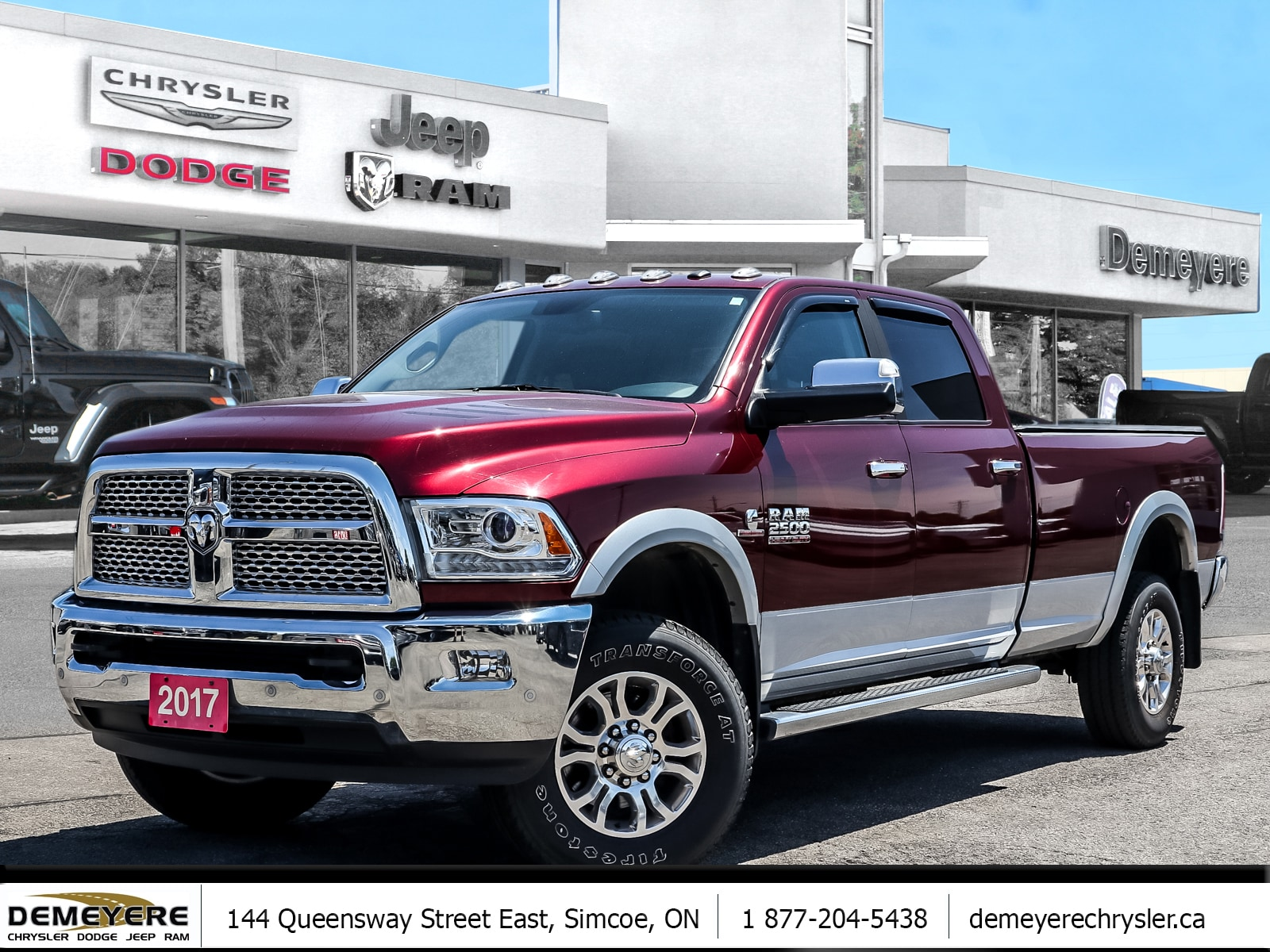 2017 Ram 2500 LARAMIE | HEATED LEATHER | NAVIGATION | DIESEL  Truck Crew Cab