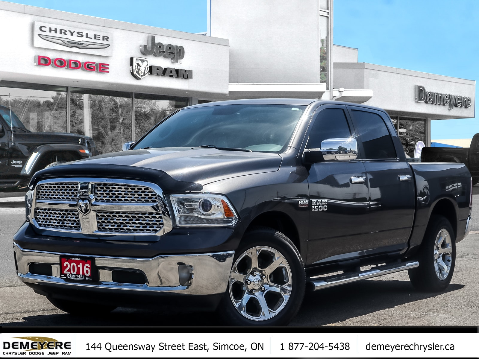 2016 Ram 1500 LARAMIE | HEATED LEATHER | NAV CAPABLE | HTCH | HE Truck Crew Cab