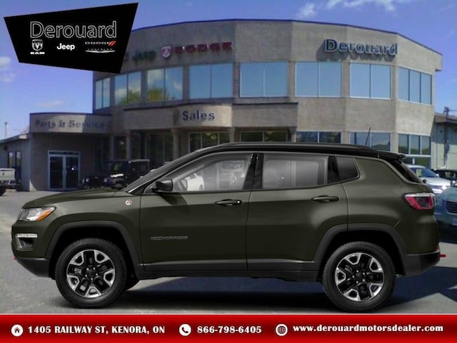 2019 Jeep Compass Trailhawk - Leather Seats - Heated Seats SUV in Kenora, ON, at Derouard RAM Jeep Dodge Chrysler