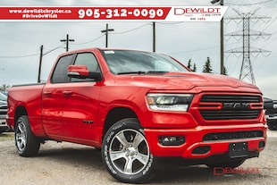2019 Ram All-New 1500 SPORT | LEATHER & SOUND GROUP | HEATED SEATS | Quad Cab