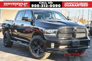 2017 Ram 1500 SPORT | HEATED/ CHILLED SEATS | SUNROOF | NAV |  Crew Cab