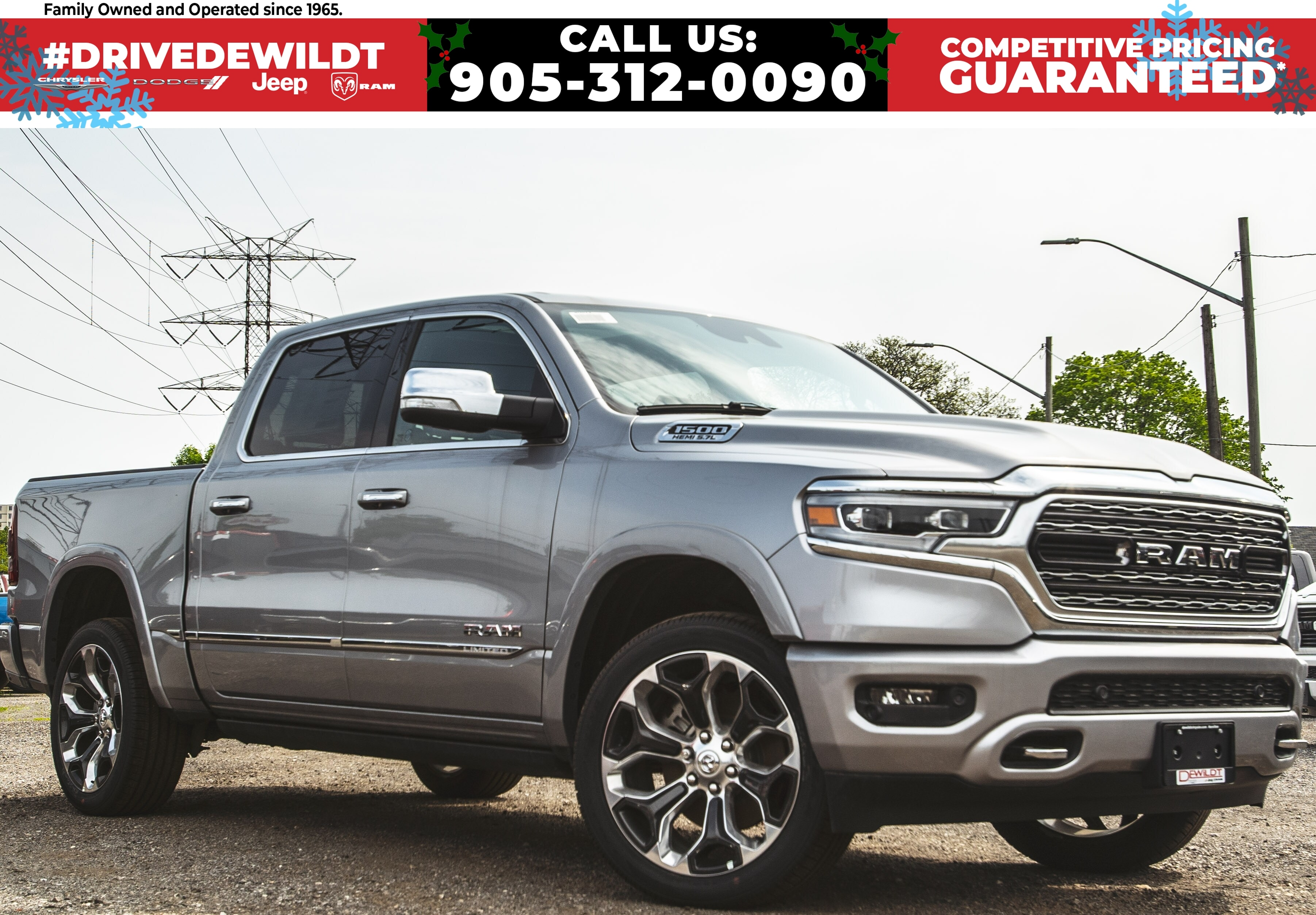 2019 Ram All-New 1500 LIMITED | TOP OF THE LINE | DUAL PANO ROOF | Crew Cab