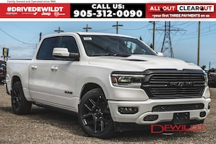 2020 Ram 1500 NIGHT EDITION | PANO ROOF | AIR RIDE | POWER BOARDS | Crew Cab