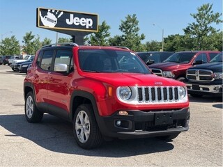 2018 Jeep Renegade Limited 4x4 My Sky Roof System, NAV, TOW, Beats Audio, Safety